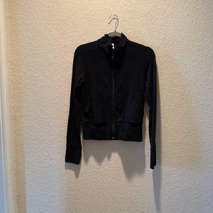 lululemon black workout jacket, size 4